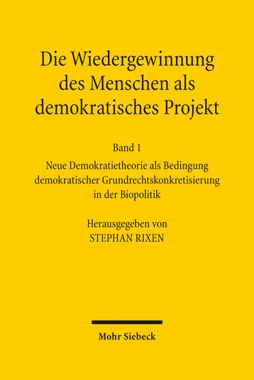 Die Wiedergewinnung des Menschen als demokratisches Projekt