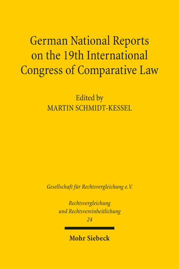 German National Reports on the 19th International Congress of Comparative Law