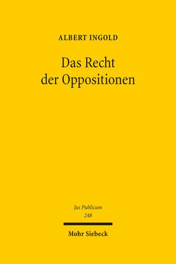 Das Recht der Oppositionen