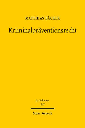 Kriminalpräventionsrecht