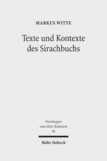 Texte und Kontexte des Sirachbuchs