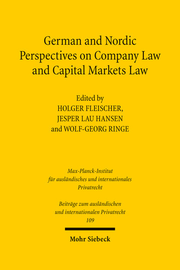German and Nordic Perspectives on Company Law and Capital Markets Law