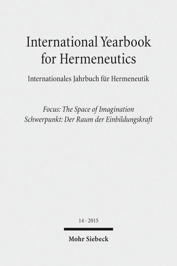 International Yearbook for Hermeneutics / Internationales Jahrbuch für Hermeneutik
