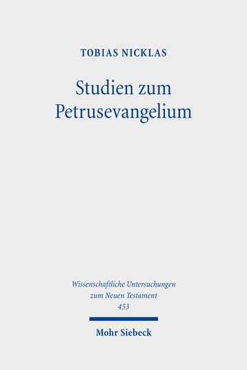 Studien zum Petrusevangelium