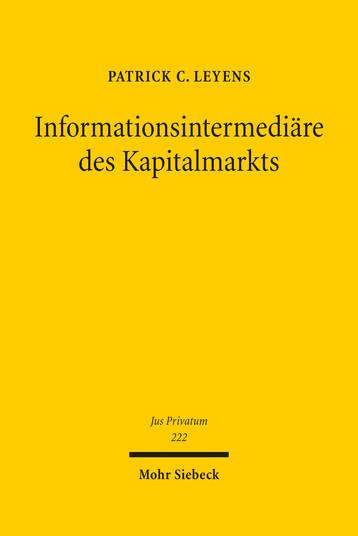 Informationsintermediäre des Kapitalmarkts