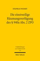 Die einstweilige Räumungsverfügung des § 940a Abs. 2 ZPO