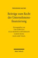 Beiträge zum Recht der Unternehmensfinanzierung