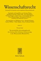 Der persönliche Anwendungsbereich des Gesetzes über befristete Arbeitsverträge in der Wissenschaft (WissZeitVG)