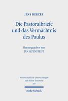 Die Pastoralbriefe und das Vermächtnis des Paulus