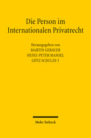 Die Person im Internationalen Privatrecht