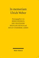 In memoriam Ulrich Weber