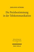 Die Preisbestimmung in der Telekommunikation