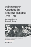 Dokumente zur Geschichte des deutschen Zionismus 1933–1941