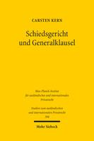 Schiedsgericht und Generalklausel