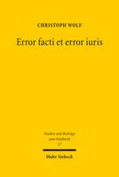 Error facti et error iuris