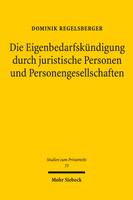 Die Eigenbedarfskündigung durch juristische Personen und Personengesellschaften