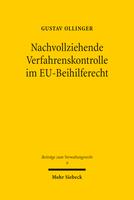 Nachvollziehende Verfahrenskontrolle im EU-Beihilferecht