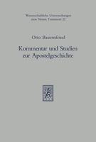 Kommentar und Studien zur Apostelgeschichte