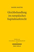 Gleichbehandlung im europäischen Kapitalmarktrecht