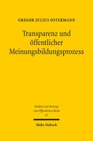 Transparenz und öffentlicher Meinungsbildungsprozess
