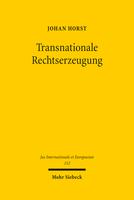 Transnationale Rechtserzeugung