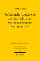 Funktionelle Äquivalente der strafrechtlichen Konkurrenzlehre im Common Law