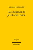 Gesamthand und juristische Person