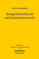 Bankgesellschaftsrecht und Sonderkonzernrecht