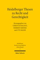 Heidelberger Thesen zu Recht und Gerechtigkeit