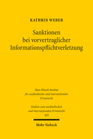 Sanktionen bei vorvertraglicher Informationspflichtverletzung