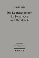 Das Deuteronomium im Pentateuch und Hexateuch
