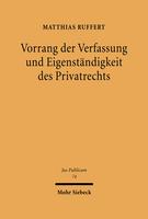 Vorrang der Verfassung und Eigenständigkeit des Privatrechts