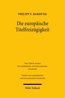 Die europäische Titelfreizügigkeit