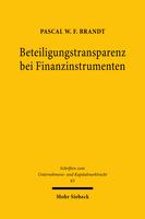 Beteiligungstransparenz bei Finanzinstrumenten