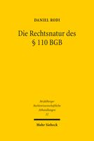 Die Rechtsnatur des § 110 BGB