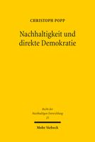 Nachhaltigkeit und direkte Demokratie