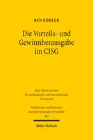 Die Vorteils- und Gewinnherausgabe im CISG