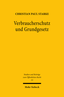 Verbraucherschutz und Grundgesetz