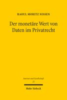 Der monetäre Wert von Daten im Privatrecht