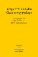 Energierecht nach dem Clean energy package