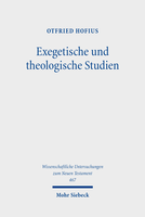 Exegetische und theologische Studien