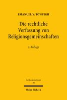 Die rechtliche Verfassung von Religionsgemeinschaften