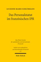 Das Personalstatut im französischen IPR