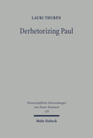 Derhetorizing Paul