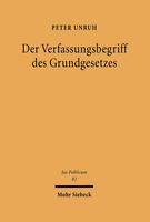 Der Verfassungsbegriff des Grundgesetzes