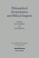 Philosophical Hermeneutics and Biblical Exegesis