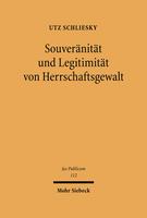 Souveränität und Legitimität von Herrschaftsgewalt