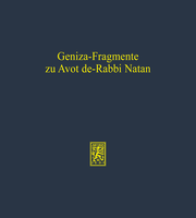 Geniza-Fragmente zu Avot de-Rabbi Natan
