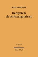 Transparenz als Verfassungsprinzip