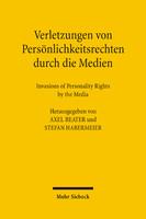 Verletzungen von Persönlichkeitsrechten durch die Medien